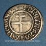 Monnaies Duché de Lorraine. René II d'Anjou (1473-1508). Blanc. Nancy. Variété inédite !