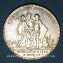 Monnaies Lorraine. Ch.-Louis-Auguste Fouquet de Belle-Isle, gouverneur 3 Evêchés. Jeton d'argent 1760