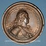 Monnaies Lorraine. Léopold I. Reconstruction des Ponts et Chaussées. 1727. Médaille en bronze. 63 mm