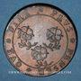 Monnaies Lorraine. Ville de Bar. Jeton cuivre 1700