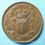 Monnaies Toul. Concours de tir 1870. Médaille en cuivre. 46 mm. Signée : Desaide