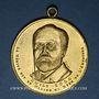 Monnaies Affaire Dreyfus. Emile Zola et le colonel Picquart. Médaille en bronze doré. 31,08 mm