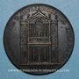 Monnaies Alexandre VII (1655-1667).  Reconstruction de l'église Santa Maria. Médaille de restitution, bronze