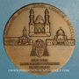 Monnaies Algérie. Mgr. A. F. Leynaud, archevêque d'Alger. 1950. Médaille bronze. 59 mm. Gravée par R.B. Baron
