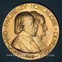 Monnaies Allemage. Hohenlohe-Öhringen. Noces d'or d'Hugo, duc d'Ujest et de Pauline 1897. Médaille bonze doré