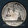 Monnaies Allemagne. Saxe. Famine de 1772. Médaille étain. Gravée par Christian Reich