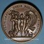 Monnaies Anne de Montmorency. Connétable de France (1538-1567). Médaille bronze. Frappe de restitution