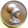 Monnaies Athéna (vers 1820). Médaille en bronze. 33 mm. Gravée par Dubois