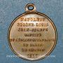 Monnaies Baptême du Prince Impérial. 14.6.1856. Médaille cuivre jaune
