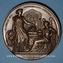 Monnaies Belgique. Léopold I. 25e anniversaire de règne. 21.7.1856. Médaille cuivre. 75 mm