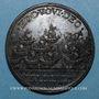 Monnaies Calixte III (1455-1458). Croisade contre les turcs. Médaille de restitution, bronze