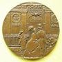 Monnaies Centenaire de la Société Générale 1864-1964. Médaille en bronze. 68 mm. Gravée par Revol
