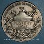 Monnaies Chambre des députés, 1898. Médaille parlementaire argent. 50 mm.