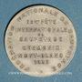 Monnaies Chamonix. 29e fête internationale de sauvetage. 1935. Médaille bronze argenté