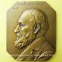 Monnaies Charles Gide. 1847-1932. Médaille en bronze rectangulaire. Gravée par C. Fernand-Dubois