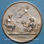 Monnaies Chemin de fer St Etienne à Lyon 1826, médaille argent 36,5 mm. Tiolier. Poinçon : lampe antique
