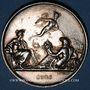 Monnaies Chemin de fer St Etienne à Lyon 1826, médaille argent 36,5 mm. Tiolier. Poinçon : main indicatrice