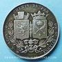 Monnaies Chemin de fer St Etienne à Lyon. 1826. Médaille en argent. 36,5 mm. Tiolier. Poinçon : lampe antique