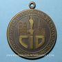 Monnaies Congrès international de dermatologie. Munich 1967. Médaille en bronze. Avec anneau de suspension