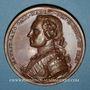 Monnaies Courlande. Victoires de Maurice de Saxe (1696-1750). Médaille bronze. 1747