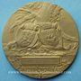 Monnaies Crédit Lyonnais. 25 ans de services (1910). Médaille en bronze. 80,5 mm. Gravée par Ch. Pillet