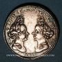 Monnaies Danemark. Anniversaire des princesses Louise de Mecklenbourg et Sophie Edwige du Danemark. 1699. Arg