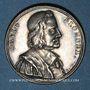 Monnaies David Blondel, historien (1590-1655), né à Châlons-en-Champagne. Médaille argent gravée par Dassier