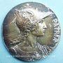 Monnaies Denier des Ecoles de la ville de Lyon, médaille. Bronze argenté. 57,1 mm. Gravée par Rives