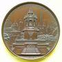 Monnaies Dijon. Amenée de la source du Rosoir. 1840. Médaille en cuivre. 70,3 mm. Gravée par Caqué