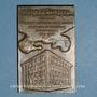 Monnaies Dr James T. Quintero, professeur à l'Ecole dentaire de Lyon (1919-53)... Plaquette bronze