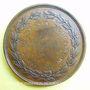 Monnaies Ecole de Besançon. Prix de dessin 1841 Médaille bronze 37 mm signée Depaulis, attribution : A. Ducat