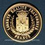 Monnaies Abbé Pierre (1912-2007). Médaille or 18 mm.