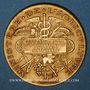Monnaies Algérie. Boufarik. Concours Général Agricole. Billiards - Instruments. 1887. Médaille  or. 33,8 mm.