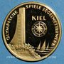 Monnaies Allemagne. J.O. 1972. Régates de Kiel. Médaille or. 26 mm
