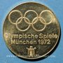 Monnaies Allemagne. Jeux Olympiques de Munich 1972. Médaille officielle du Comité. Or. 22,5 mm. Tir à l'arc
