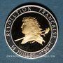 Monnaies Bicentenaire de la révolution 1789-1989. Médaille bimétallique or avec cerclage argent