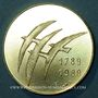 Monnaies Bicentenaire de la révolution 1789-1989. Médaille or 22 mm. Jeu de Paume / les oiseaux de Folon