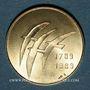 Monnaies Bicentenaire de la révolution 1789-1989. Médaille or. 22 mm. Jeu de Paume / les oiseaux de Folon