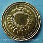 Monnaies Charles de Gaulle (1890-1970). Médaille or 1981. 14 mm. R/: drapeaux autour du globe terrestre