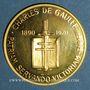 Monnaies Charles de Gaulle (1890-1970). Médaille or. 34 mm. 999 /1000. 16,60 gr