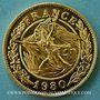 Monnaies Charles De Gaulle. Médaille or module  20 francs. La Marseillaise de Rude. 1980. 1000 /1000.  6,45g