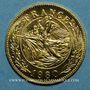 Monnaies Charles De Gaulle. Médaille or module  20 francs. La Marseillaise de Rude. 1980. 999,9‰.  6,45g.