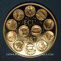 Monnaies Ecu 1987. R/: représentation symbolique des 12 monnaies des pays de l'Union Européenne