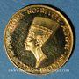 Monnaies Egypte. Nefertiti et Toutânkhamon. Médaille or. 999 /1000. 1,76 g