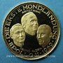 Monnaies Etat-Unis. Vol d'Apollo 11. 16-24 juillet 1969. Médaille or. 24,2 mm