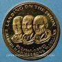 Monnaies Etats Unis. Aldrin, Armstrong et Collins. 1er alunissage 1969. Médaille or. 15 mm