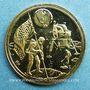 Monnaies Etats Unis. Aldrin. Armstrong et Collins. 1er alunissage 1969. Médaille or. 15 mm