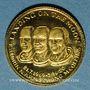 Monnaies Etats Unis. Aldrin. Armstrong et Collins. 1er alunissage 1969. Médaille or. 999 /1000. 1,75 g