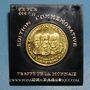 Monnaies Etats Unis. Aldrin. Armstrong et Collins. 1er alunissage 1969. Médaille or. 999 /1000. 16,93 g