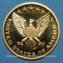 Monnaies Etats Unis. John et Robert Kennedy. Médaille or. 26 mm